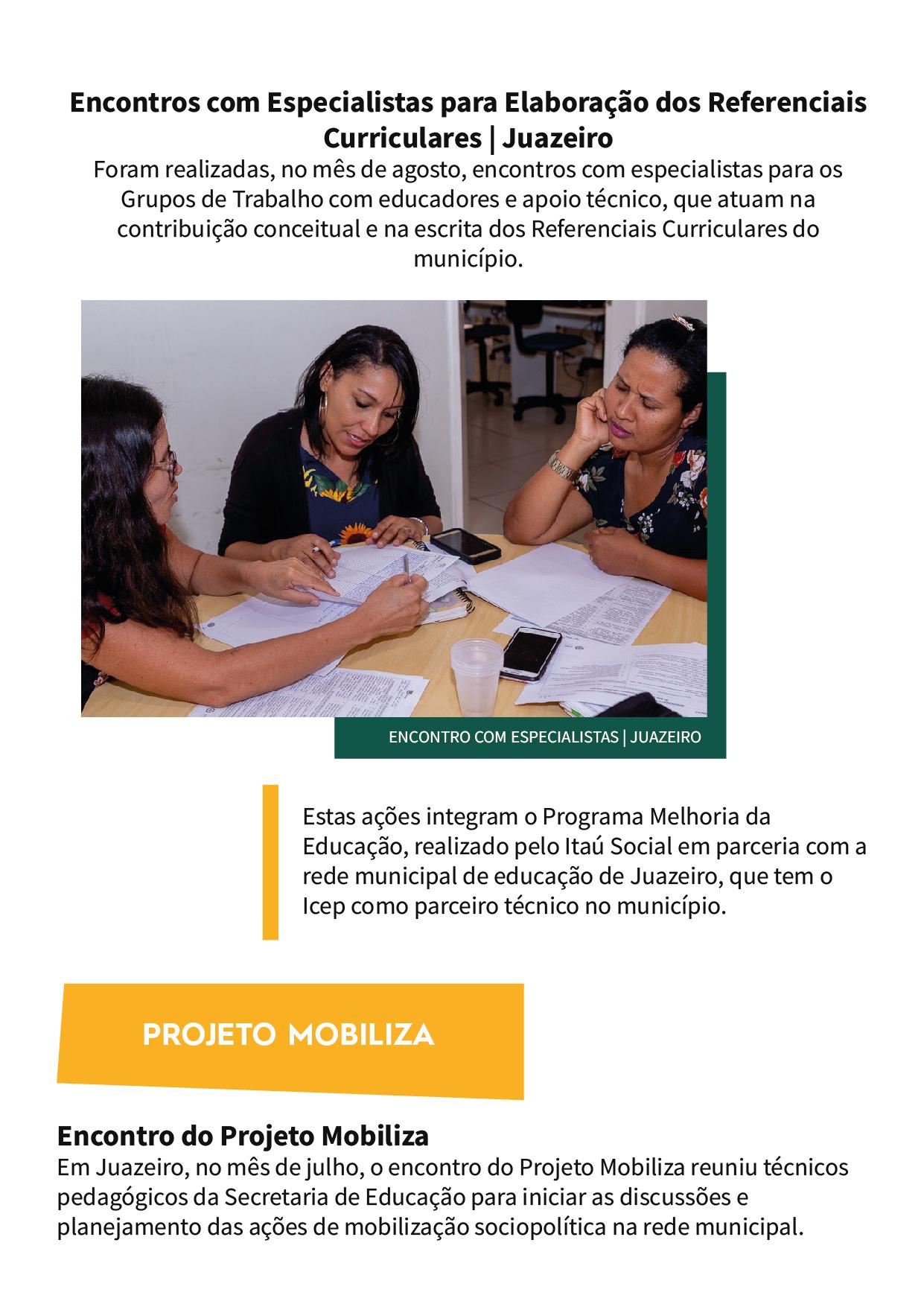 ICEP - Boletim edição 2, versão impressa_Campanhas e mobilizações