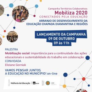 CARD LANÇAMENTO CAMPANHA MOBILIZA_CHAPADA_2020